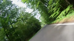 Fast biking the Braunsberg in the palatina forest Stock Footage
