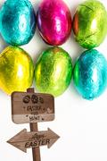 Composite image of easter egg hunt sign Stock Illustration