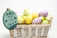 Composite image of easter egg hunt sign Stock Illustration
