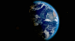Real Realistic EARTH in space 1920X1080 Stock Footage