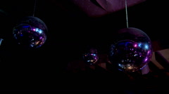 Disco balls in the discotheque Stock Footage
