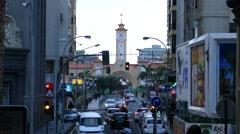 4K UHD Downtown Old town Santa Cruz de la Tenerife island Canary islands Spain Stock Footage