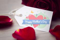 Composite image of mothers day greeting - stock photo