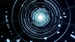 Futuristic Data Accelerator Tunnel in Loop Stock Footage