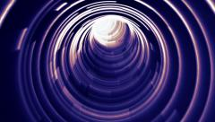 Bending Futuristic Wormhole Tunnel Looping - stock footage