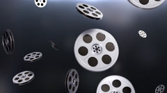 Movie Theater Projection Reels in Elegant Looping Bright Background - stock footage