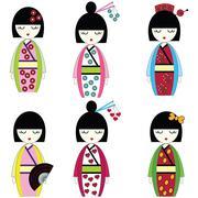 Japanese dolls Stock Illustration