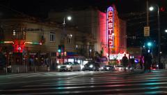 Nightlife on San Francisco's Castro Street (4K) Stock Footage
