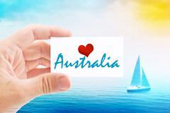 Summer Vacation on Australia Beach Piirros