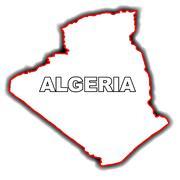 Outline Map of Algeria Stock Illustration