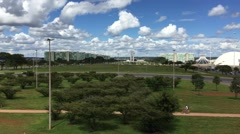 Aerial view of Brasilia, Brazil Stock Footage