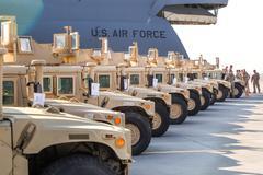 US military assistance to Ukraine - stock photo