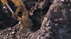Close up of a coal scoop in a mine Stock Footage