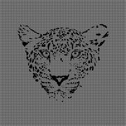cheetah made from textured background - stock illustration