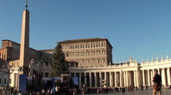 St. Peter's Square at Christmas. Vatican City. Stock Footage