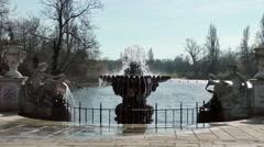 Italian Gardens fountain Kensington park London Stock Footage