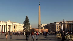 St. Peter's Square at Christmas. Vatican City. - stock footage