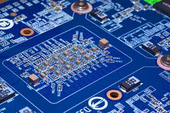 Blue electronic plate. PC device. Kuvituskuvat