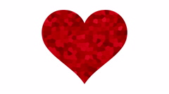 4K UltraHD loopable beating red heart with crystallized pattern Stock Footage