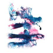 abstract blue, pink watercolor strokes, may be used as backgroun - stock illustration