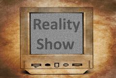 Reality show sign on TV Kuvituskuvat