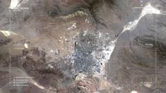 Aerial Surveillance Flyover of Las Vegas Stock Footage