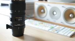 telephoto lens - stock footage