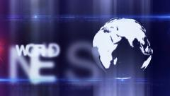 Globe abstract WORLD NEWS background diffrent blue - stock footage