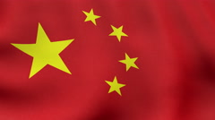 4K UltraHD Loopable waving Chinese flag animation Stock Footage