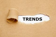 Trends Torn Paper Concept - stock photo