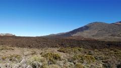 4K UHD Unesco Mt. Teide peak Pico del Teide National Park Tenerife island Canary Stock Footage