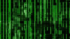 Green computer glitch data matrix background Stock Footage