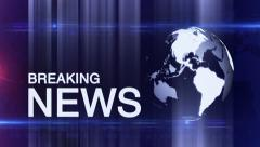 Abstract digital BREAKING NEWS diffrent BLUE Stock Footage
