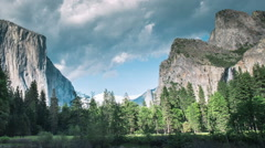 Time Lapse - Yosemite Nation Park Valley - stock footage