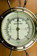 Barometer - Atmospheric Air Pressure Gauge Stock Photos