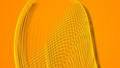 Gold orange vector lines abstract motion background Stock Footage