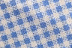 Texture blue fabric of scots pattern. - stock photo