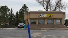 Subway Restaraunt Stock Footage