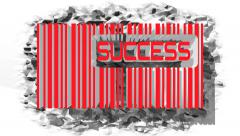 Bar code with success text within Stock Footage