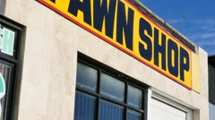 Pawn Shop tilt - stock footage