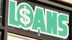 Pawn Shop Loans Sign Stock Footage