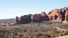 An amazing view of formations in arches national park Stock Footage