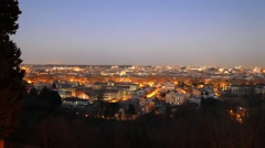 Rome by night. Panorama. Italy Stock Footage