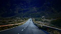 4K UHD Auto driving in Mt. Teide peak Pico del Teide National Park Tenerife Stock Footage