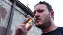 Smoking Man Stock Footage