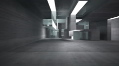 Empty dark abstract concrete room interior Stock Footage