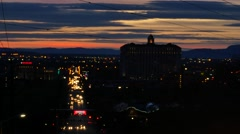 Utah Sunset Salt Lake City Stock Footage