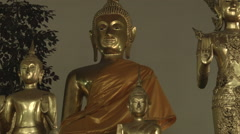 Buddha Statues at Temple of the Reclining Buddha (Wat Pho), Bangkok,Thailand Stock Footage