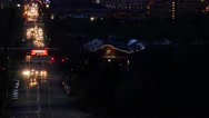 Stock Video Footage of SALT LAKE CITY STREETS NIGHT