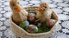 Preparing For Easter 2 Stock Footage